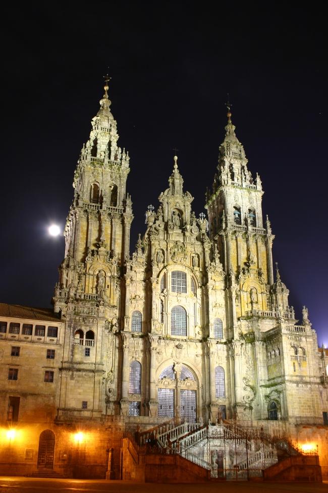 Santiago_de_Compostela_Catedral_Noche